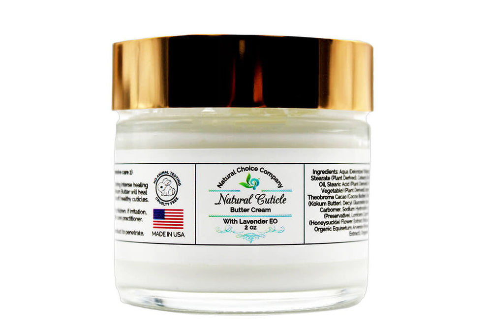 Natural Cuticle Butter Cream with Lavender EO 2oz - Intensive Care 2 - Natural Choice Company