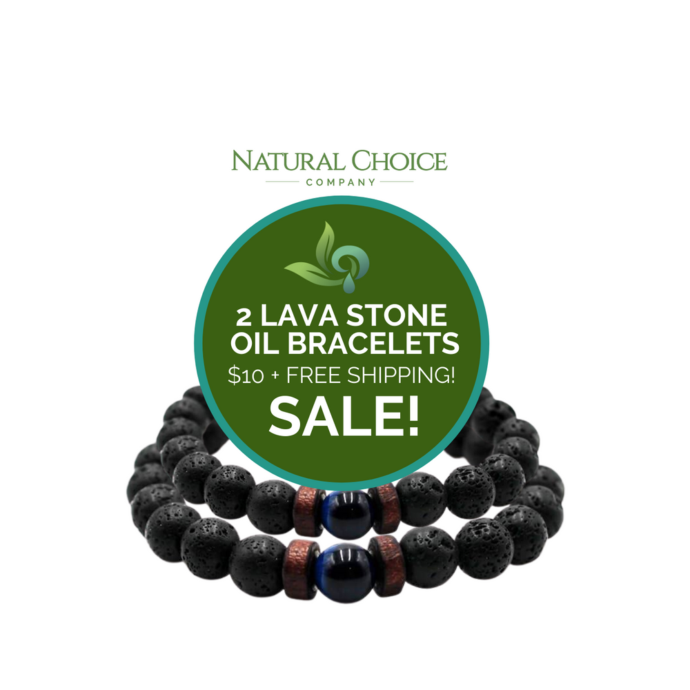 Lava Stone 2 Pack Bracelet Special - Natural Choice Company