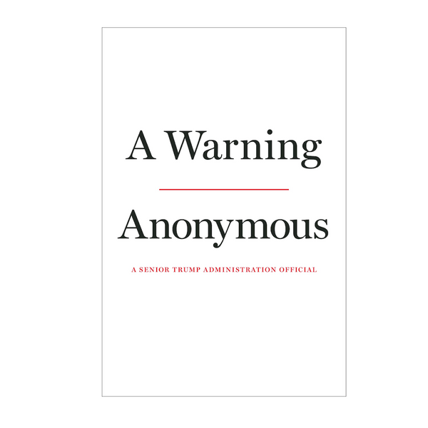 A Warning- Hardcover US Edition