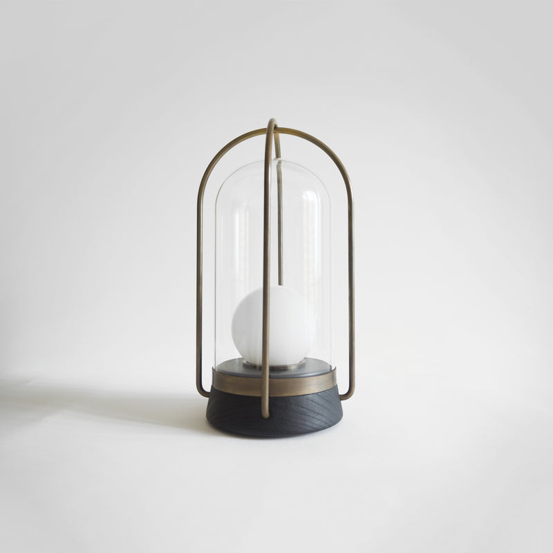 Lily Lantern - Ebonised Walnut