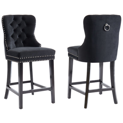 Rizzo 26'' Counter Stool, Set Of 2-Black