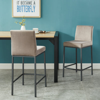 Diego 26'' Counter Stool, Set Of 2-Grey/Grey Leg