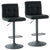 Fusion Air Lift Stool, Set Of 2-Black