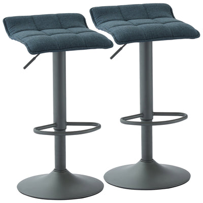 Pluto Air Lift Stool, Set Of 2-Blue-Grey