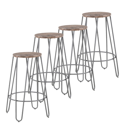 Cliff 26'' Counter Stool, Set Of 4-Grey