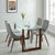 Franco/Cora 5Pc Dining Set-Walnut Table/Grey Chair