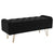 Sabel Storage Ottoman/Bench-Black/Gold Leg