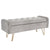 Sabel Storage Ottoman/Bench-Grey/Gold