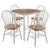 Sorella 5pc Set Round Drop Leaf Table with Windsor Chairs