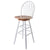 "Wagner 30"" Arrow-Back Windsor Swivel Seat Bar Stool Natural & White"