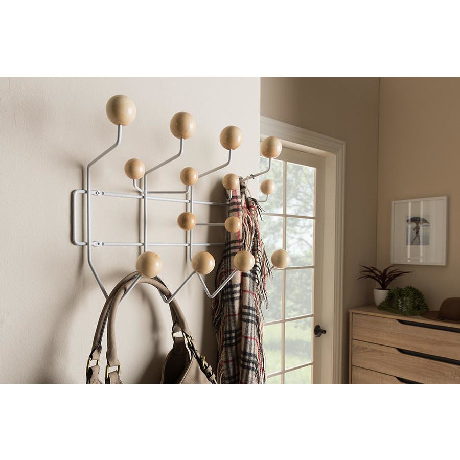 Penny Mid-Century Modern Light Brown Coat Hanger