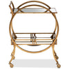 Arsene Modern and Contemporary Antique Gold Finished 2-Tier Mobile Bar Cart