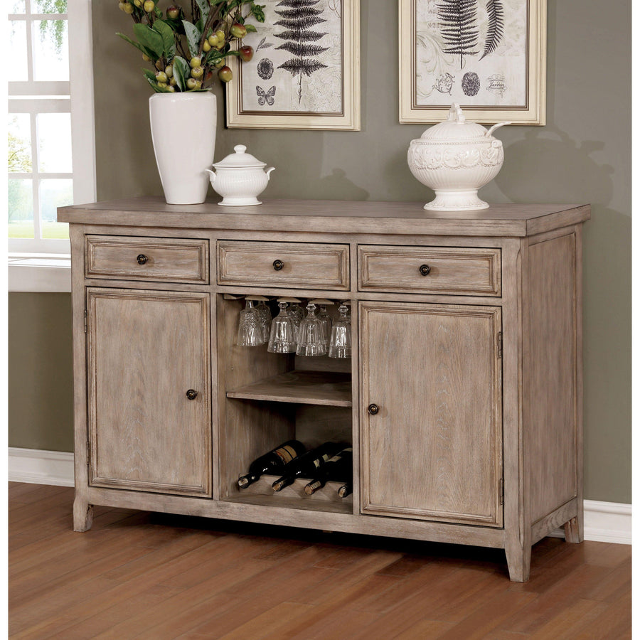 Miller Rustic Wood Wine Storage Buffet Server