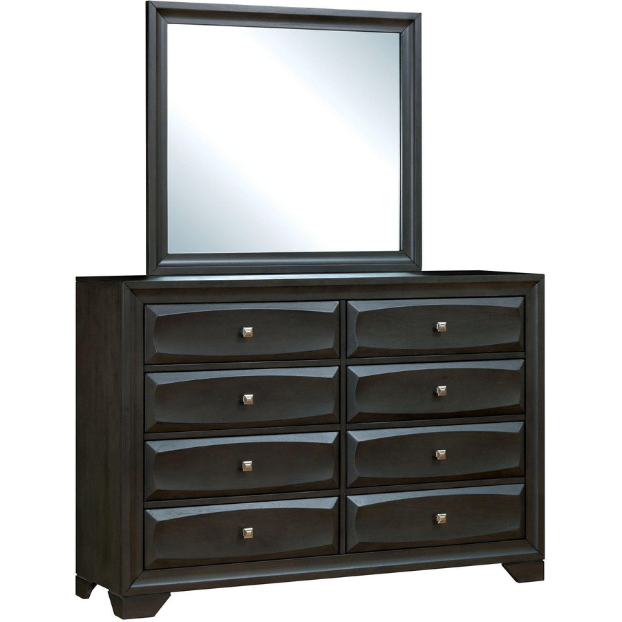 Amber Contemporary Dresser and Mirror