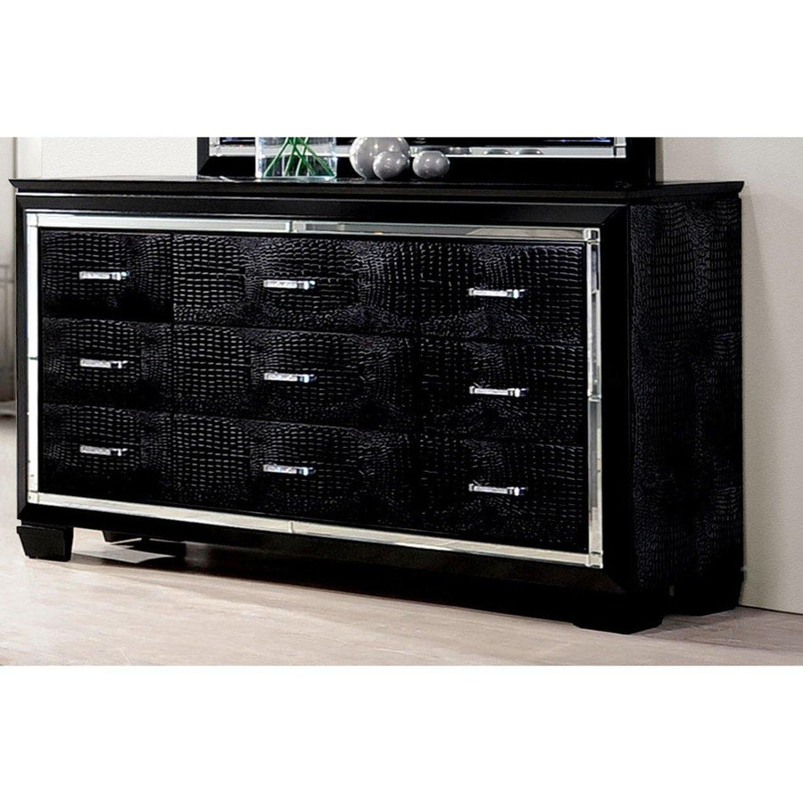 Balitoria Contemporary Style Black, 9-Drawer Dresser