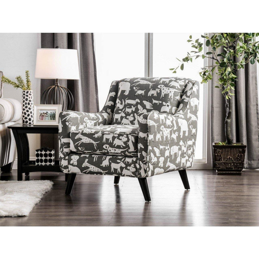 Lea Contemporary Animal Print Accent Chair
