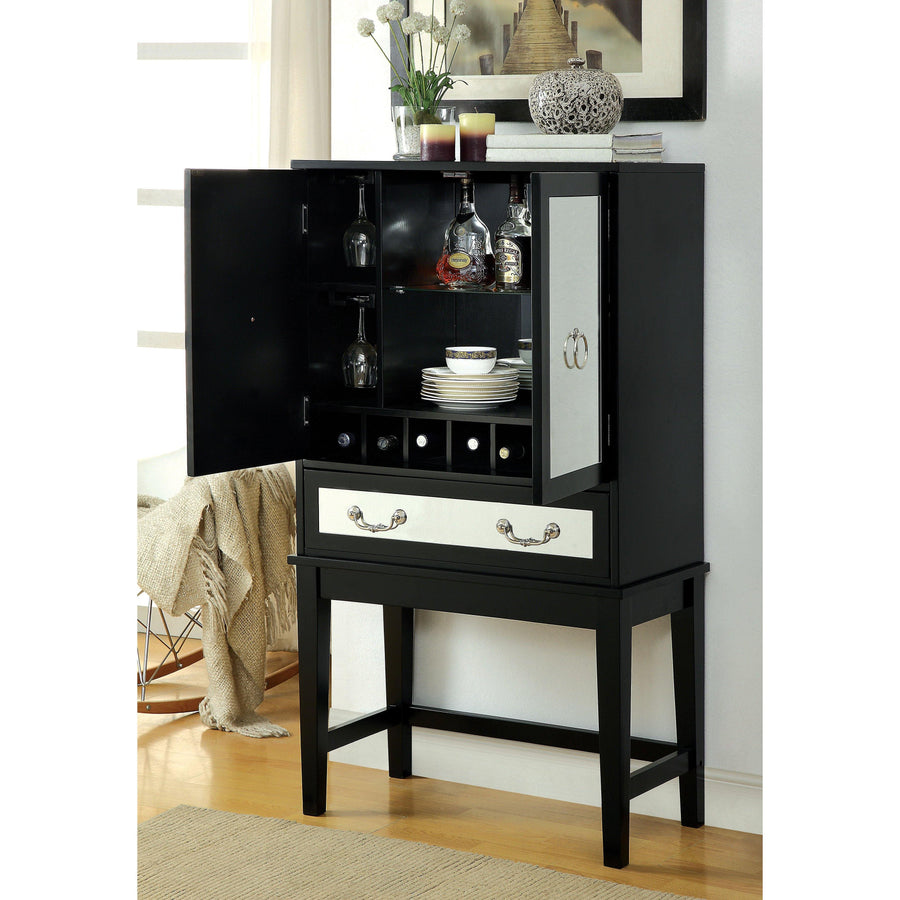 Louis Contemporary Wine Cabinet in Black