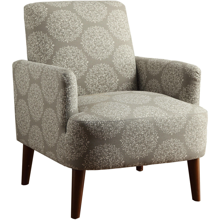Bailey Transitional Upholstered Gray Accent Chair with Track Arms