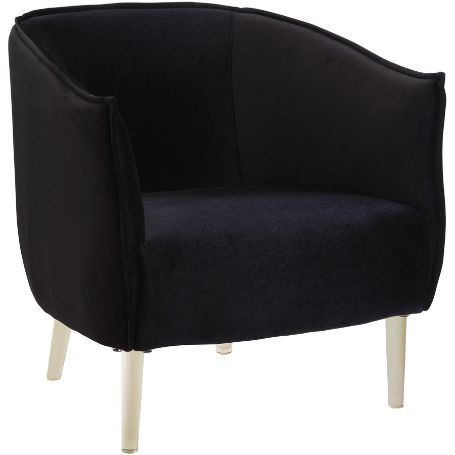Toulon Contemporary Accent Barrel Chair in Black