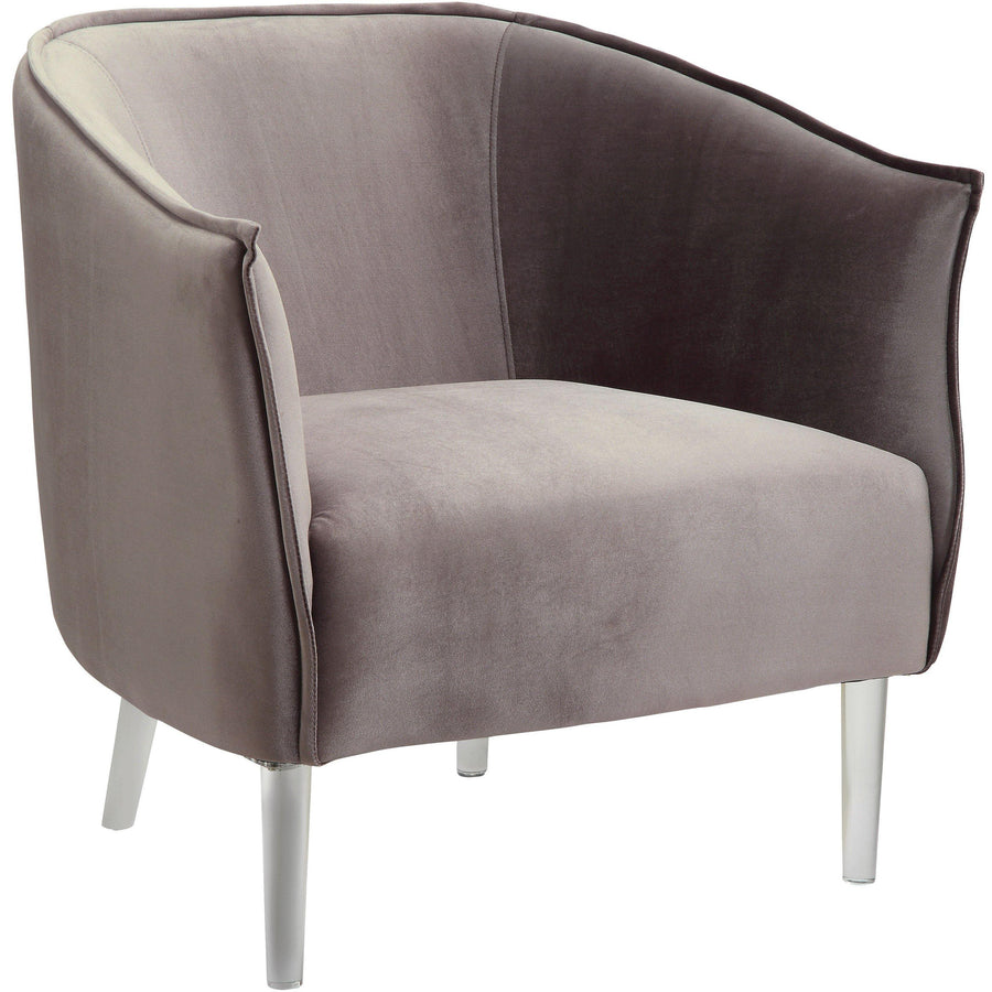 Toulon Contemporary Accent Barrel Chair in Gray
