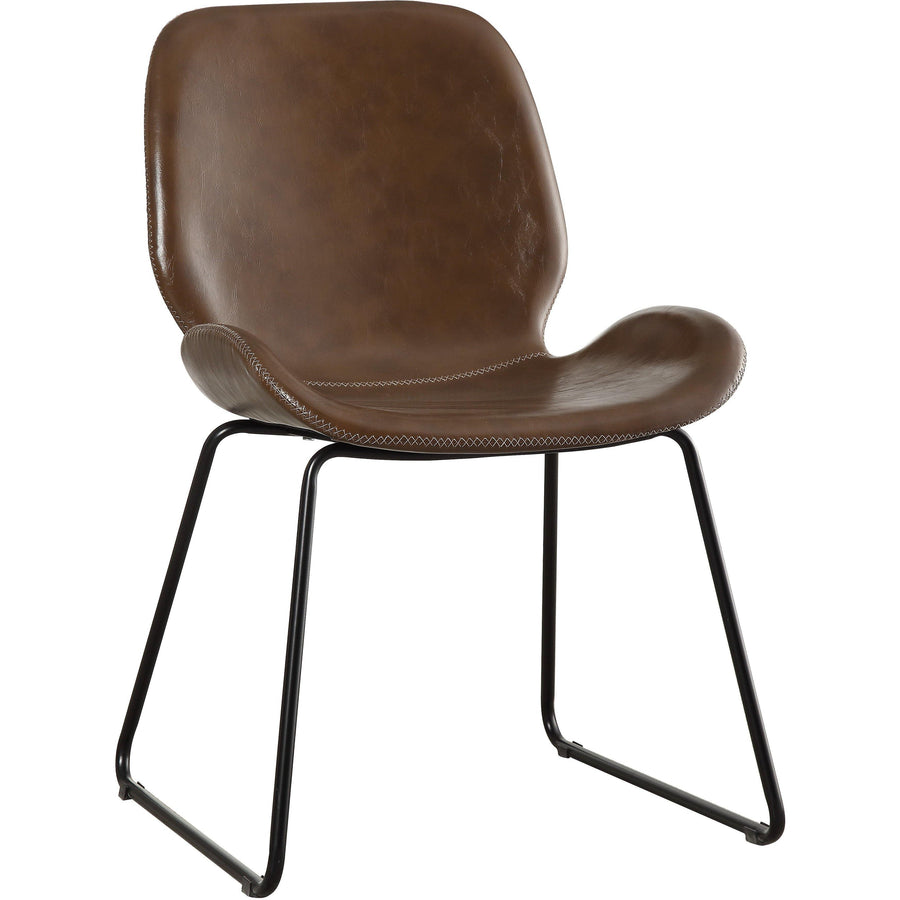 Etinne Contemporary Brown Armless Accent Chair