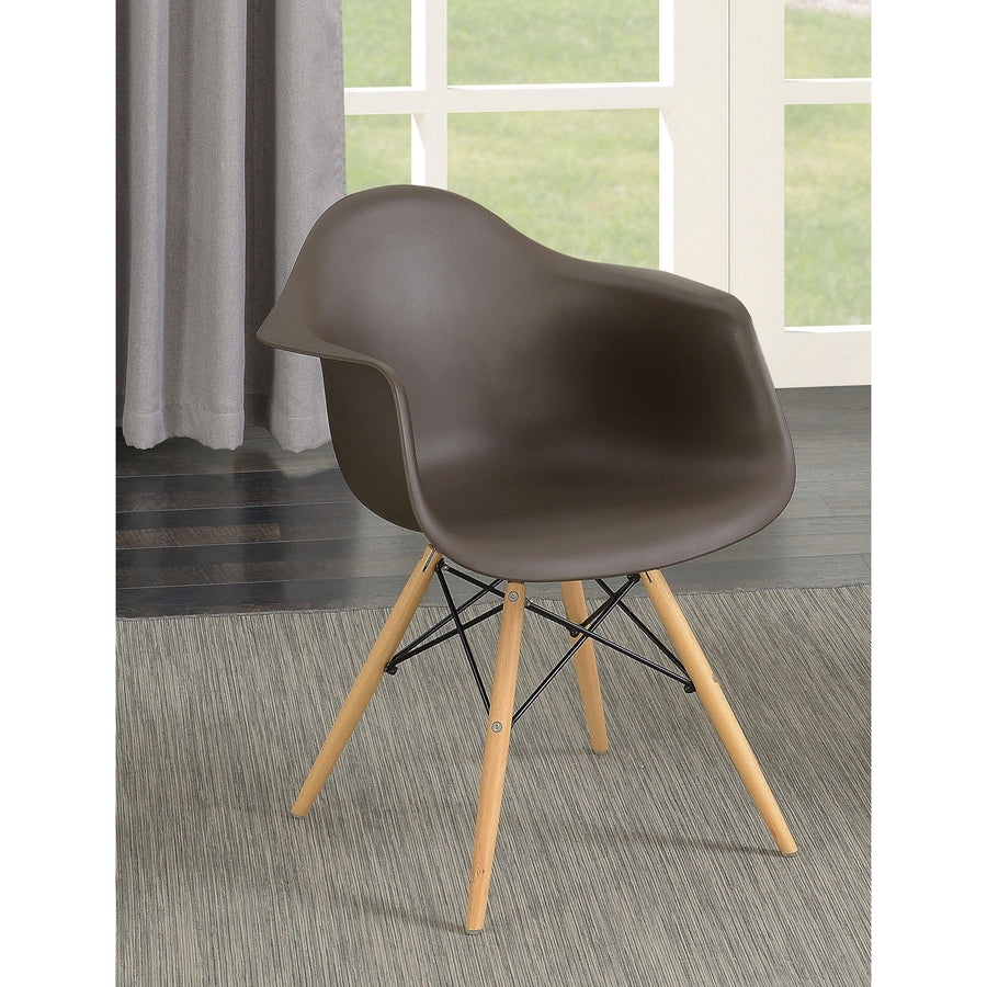 Finch Mid-century Modern Brown Accent Chair (Set of 2)