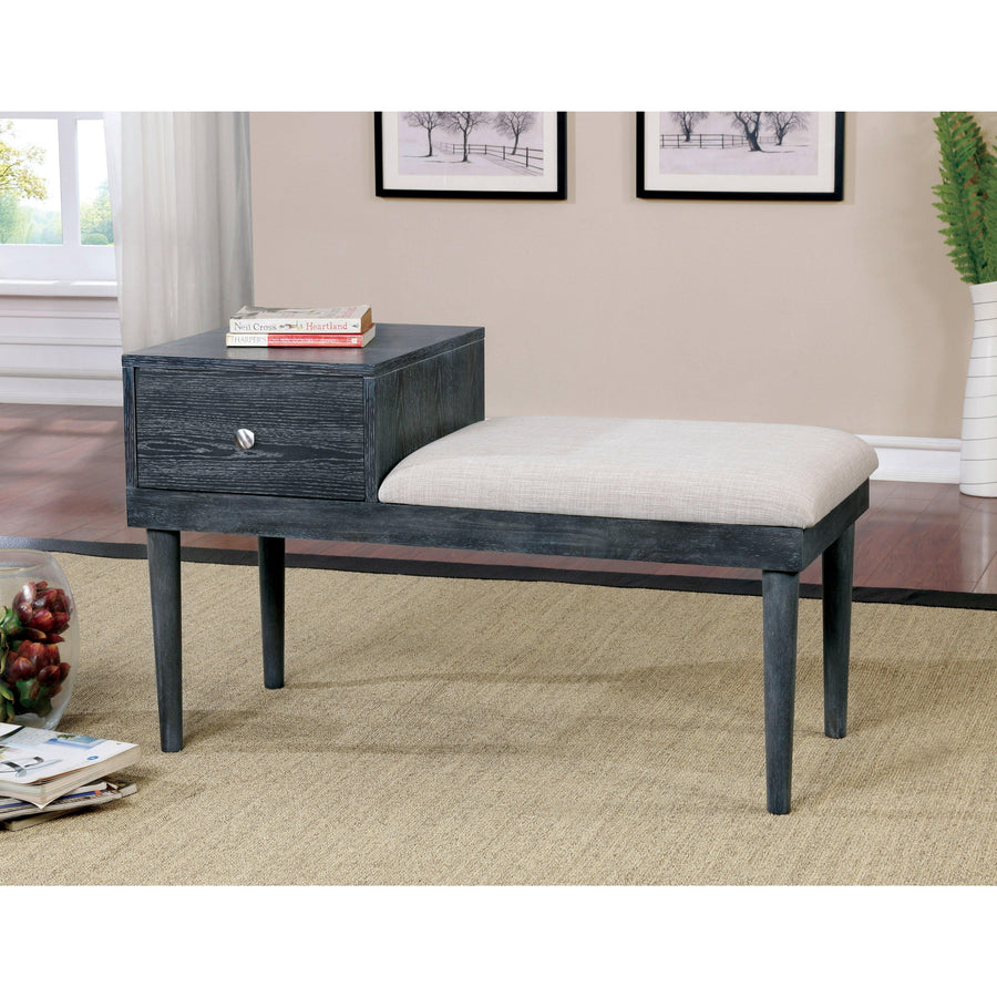Bethal Contemporary Accent Bench with Drawer