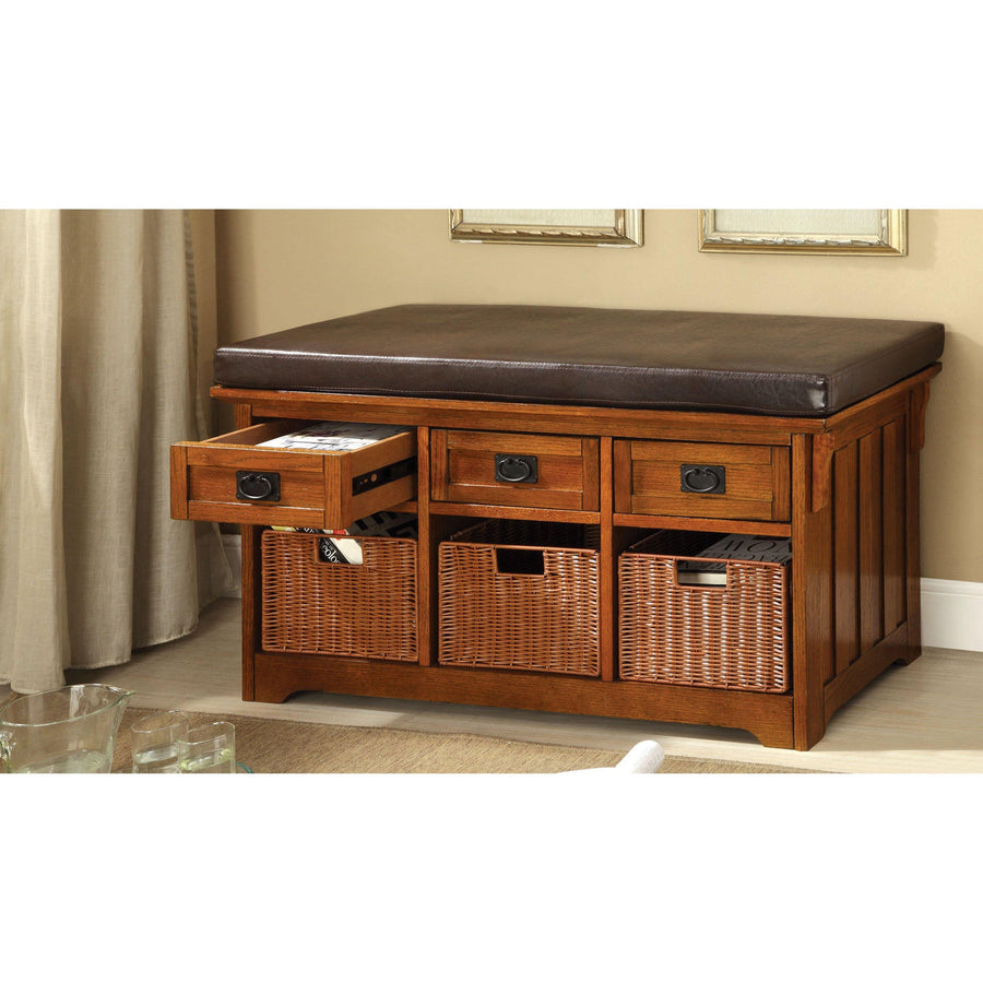 Lucia Transitional Style Storage Bench