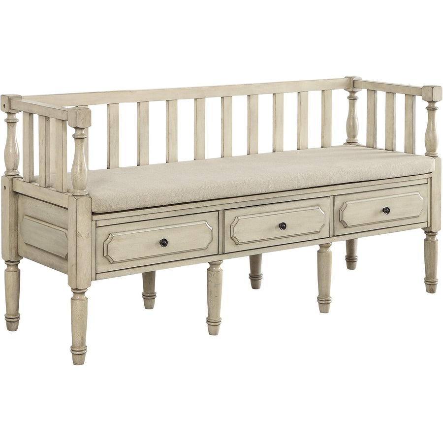 Claudette Transitional Storage Bench In Natural Tone