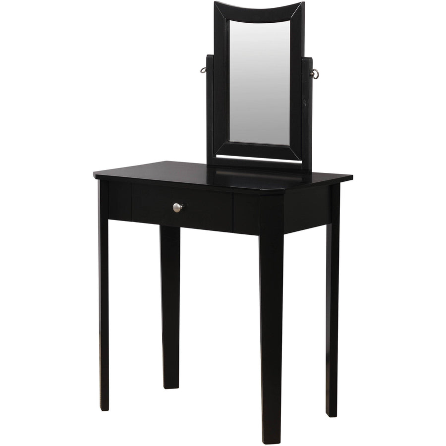 Joyce Contemporary Style Black Vanity Set