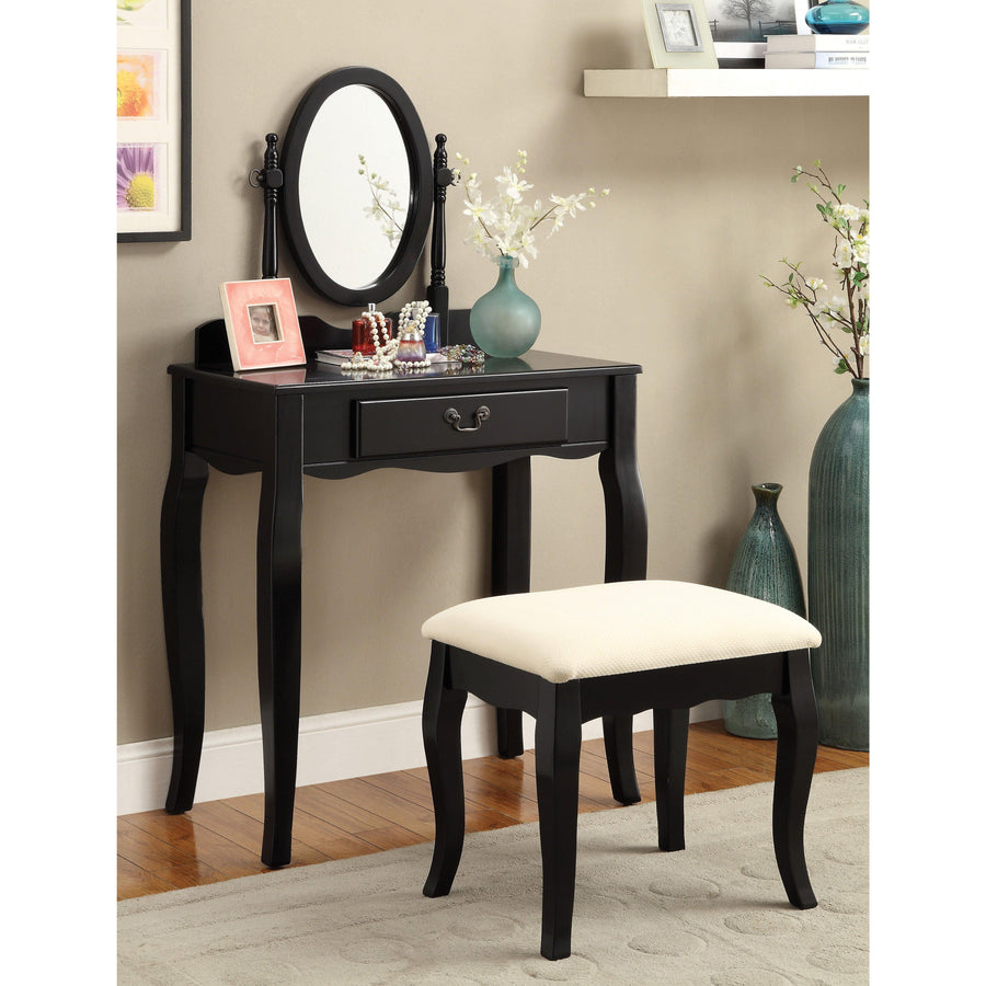 Henson Contemporary Style Black, 1-Drawer Vanity
