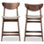Latina Light Grey Fabric Upholstered Finishing 24-Inches Counter Stool (Set of 2)