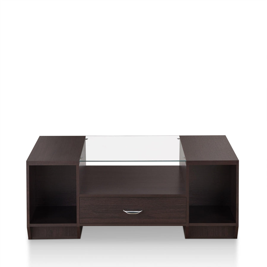 Wyatt Contemporary Glass Inserted Coffee Table