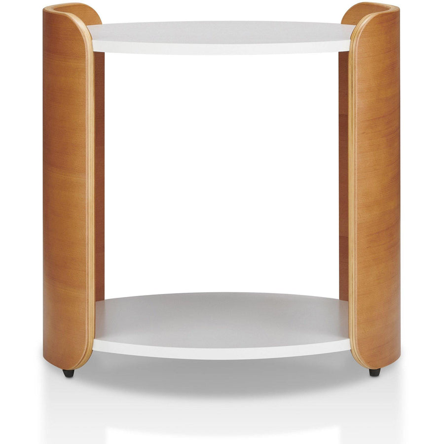 Jericho Modern Round Two-tone End Table