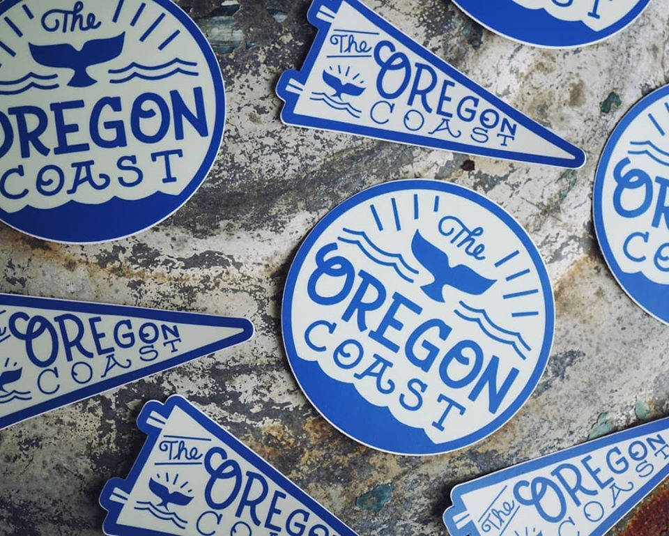 Oregon Whale Sticker - Pennant