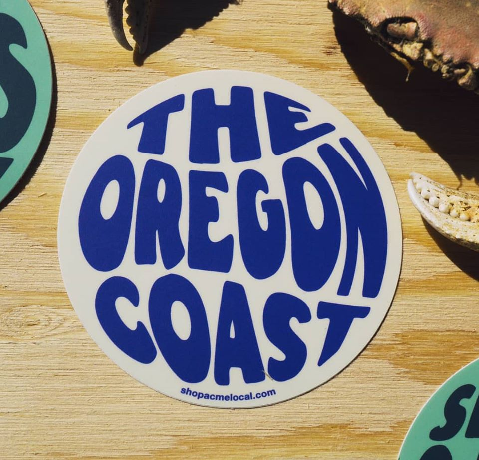 The Oregon Coast 70's Sticker