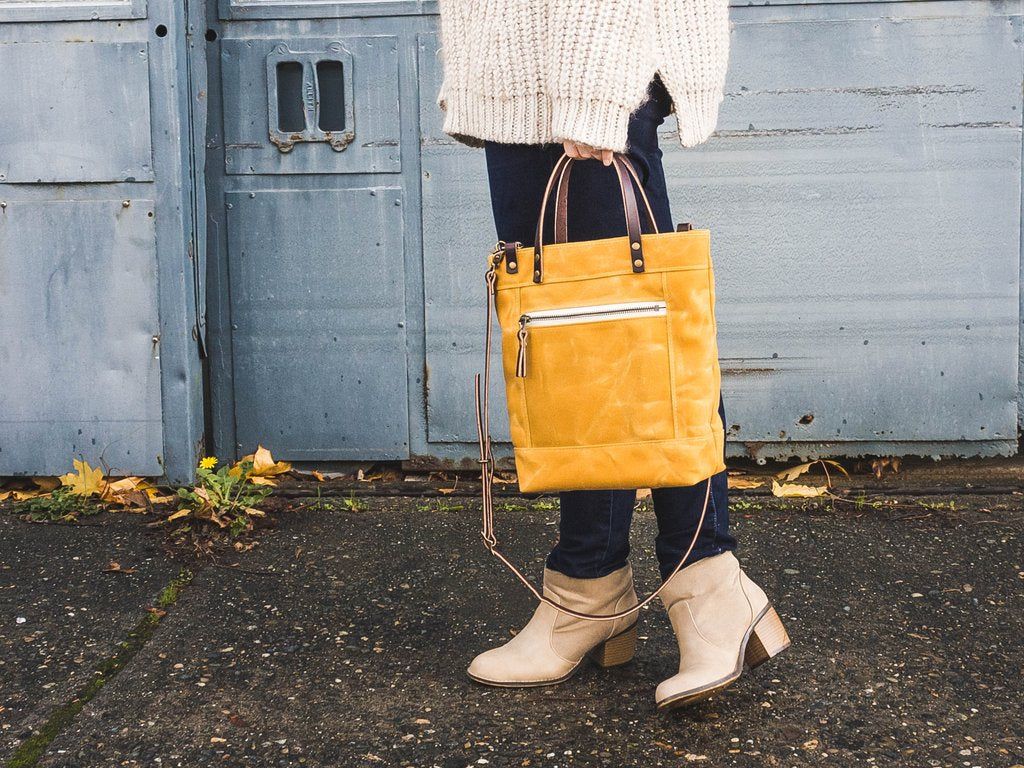 Waxed Canvas Crossbody Bag