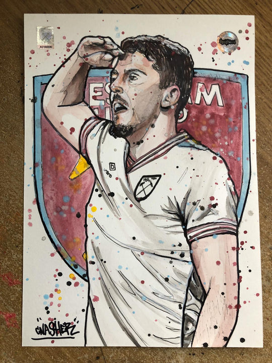 MurWalls Drawing of West Ham United's Pablo Fornals