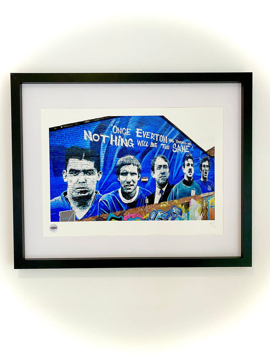 EVERTON FC LEGENDS MURAL LIMITED EDITION PRINT