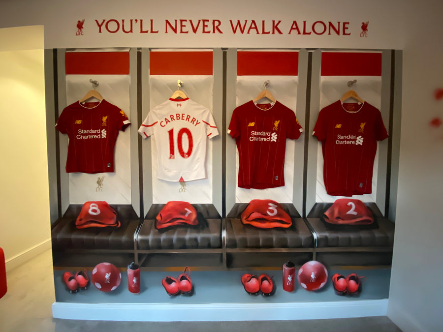 THE LIVERPOOL FC CHANGING ROOM