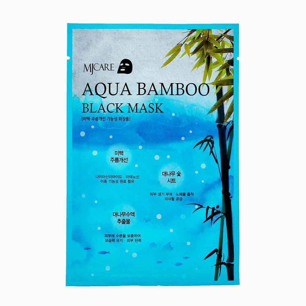 MJ CARE Aqua Bamboo Black Mask - mymirinae