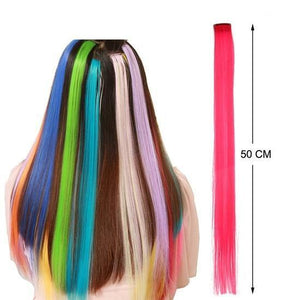 Colorful pieces of wigs