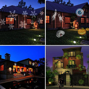 Christmas Halloween Home Decoration Projector Lights 12 Pattern