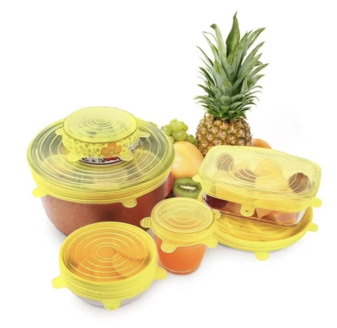 Reusable Stretch & Seal Lids (6 pcs)