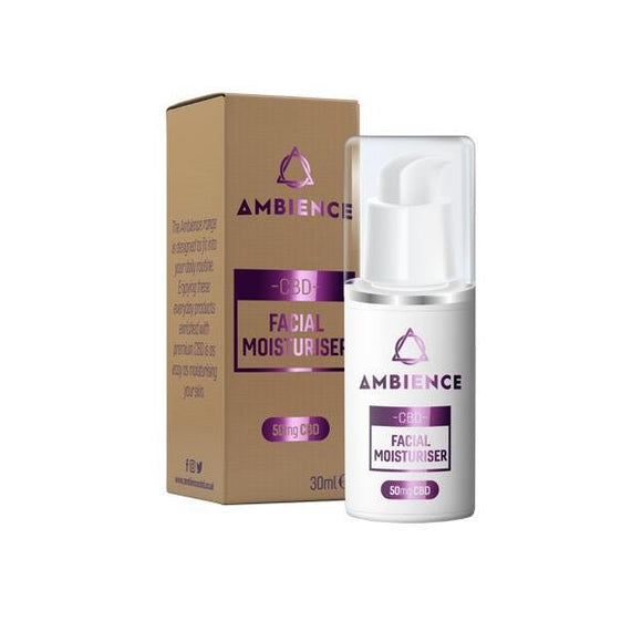 Ambience CBD Infused 50mg CBD Facial Moisturiser 30ml - Shark Vapes Limited