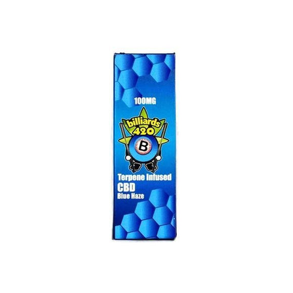 Billiards 420 Terpene CBD Disposable Vape Pen - Blue Haze 100mg - Shark Vapes Limited