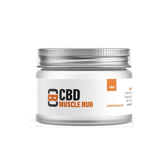 CBD Asylum 1000mg CBD 100ml Muscle Rub Balm - Shark Vapes Limited