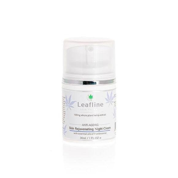 CBD Leafline 100mg CBD Skin Rejuvenating Night Cream 30ml - Shark Vapes Limited