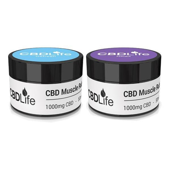 CBDLife 1000mg CBD Muscle Rub 50ml - Shark Vapes Limited