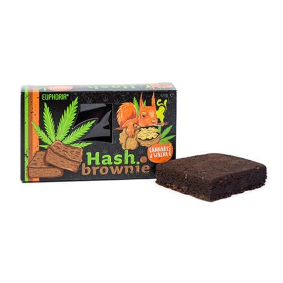 Euphoria Hash Brownie Cannabis & Walnut - Shark Vapes Limited